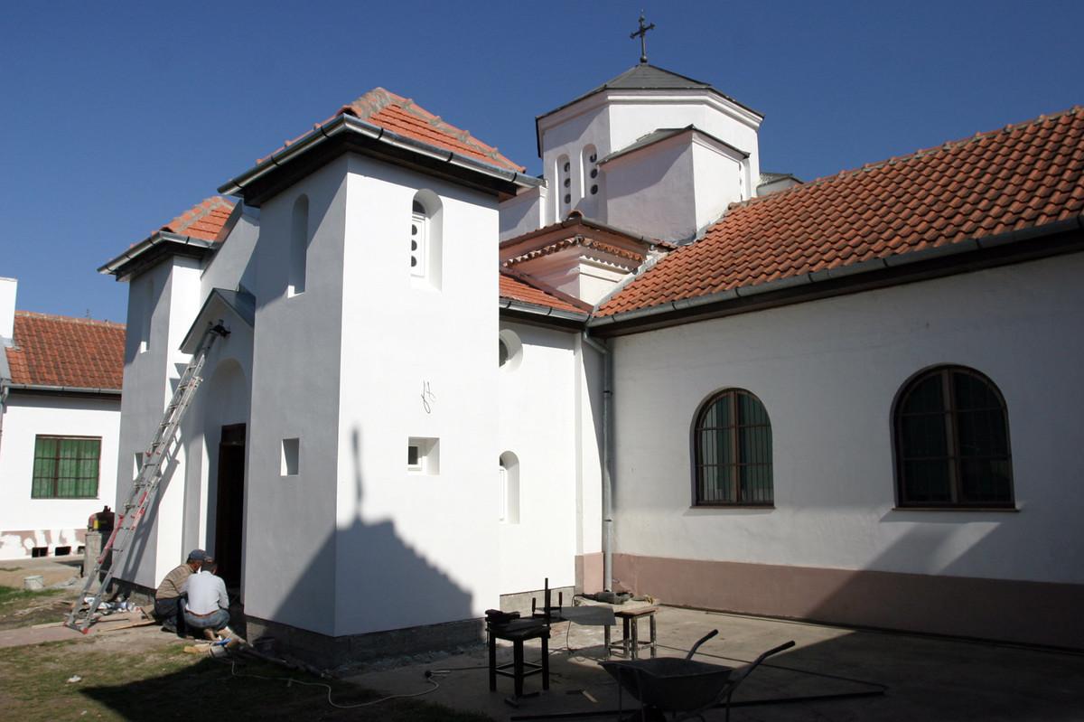 Radovi na kripti manastira Sv. Melanije ( Foto: Blic)